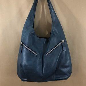 Lavorazione Artigianale leather hobo bag Italy